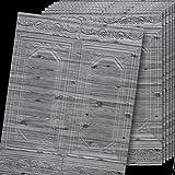 jidan Borders per Piastrelle in Vita Border Border Border Embosse 10 Pezzi Buccia e Bastone Wallpaper 10m Confine rodapié adhesivo muebles de cocina cenefa Adesivo cocina Behan Granden (Color : Gray)