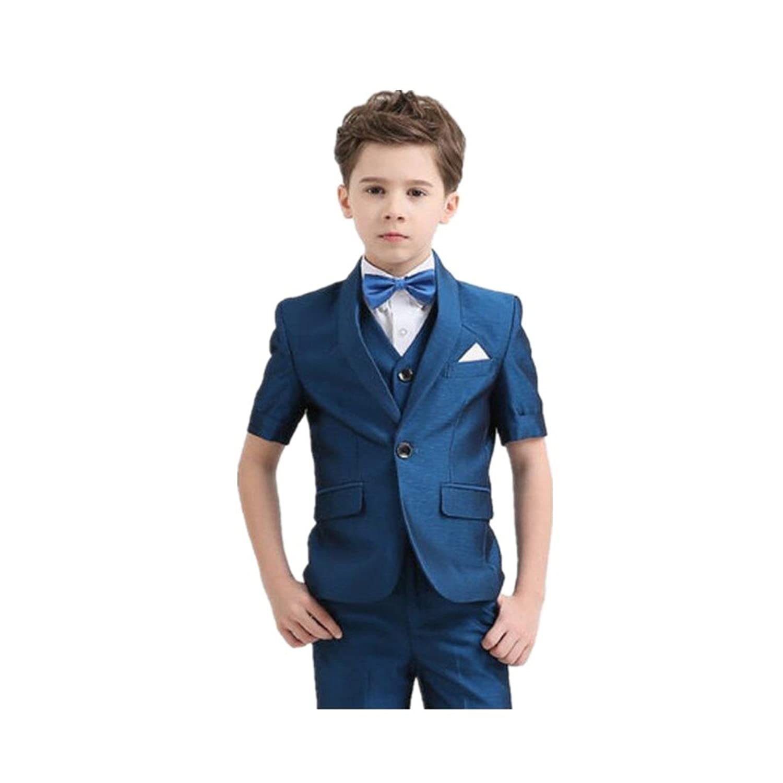 MARIAH(マリア)2点セット 男の子 フォーマル タキシード 半袖 スーツ ブルー