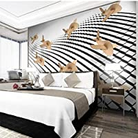 xueshao 壁紙カスタム壁紙壁画3D立体飛行機モデル抽象空間テレビの背景の壁-150X120Cm