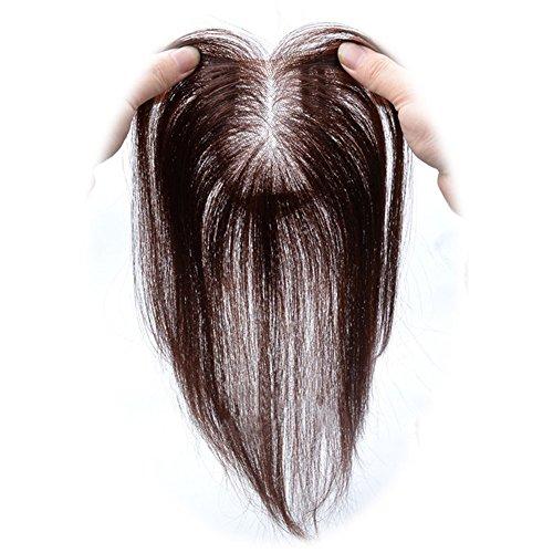 Remeehi, Handgemachtes Dechkaartoupet zum anstecken, Abschluss aus Spitze, für dünnes Haar