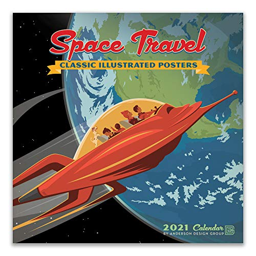 Space Travel 2021 Wall Calendar