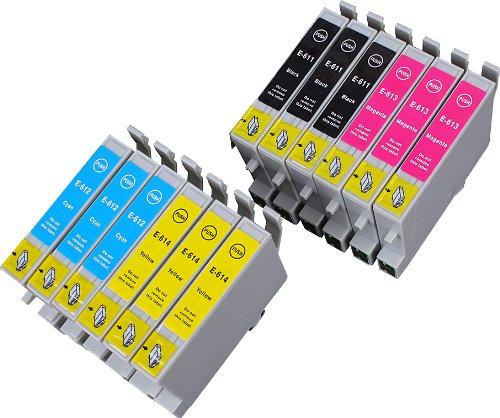 12 Multipack de alta capacidad Epson T0615 Cartuchos Compatibles 3 negro, 3 ciano, 3 magenta, 3 amarillo para Epson Stylus D68, Stylus D88, Stylus D88+, Stylus DX3800, Stylus DX3850, Stylus DX4200, Stylus DX4800, Stylus DX4850. Cartucho de tinta . T0611 , T0612 , T0613 , T0614 , TO611 , TO612 , TO613 , TO614 © 123 Cartucho
