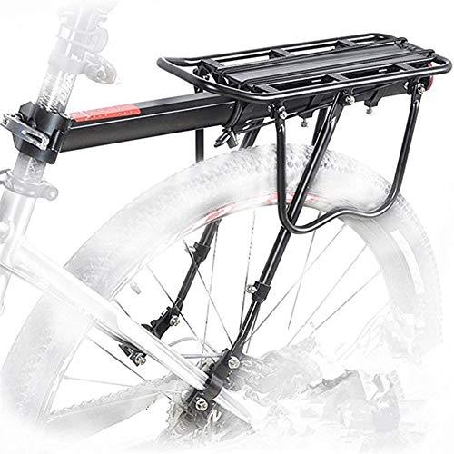 Portabultos Bicicleta Estante de la bici aleación de aluminio de 50 kg de equipaje trasero del portador del tronco for bicicletas MTB posterior de la bici Estante bicicleta de ciclo Bastidores Portaeq