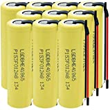 LqyKJas Lithium Ion Battery 3.7V 2500Mah 1865035A Battery for High Discharge Flashlight Rechargeable Battery 10Pcs-10Pcs