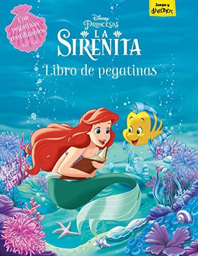 La Sirenita. Libro de pegatinas: Con pegatinas reutilizables...