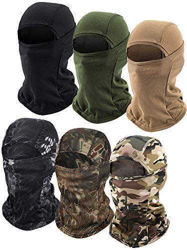 6 Pieces Balaclava Face Mask Motorcycle Windproof Camouflage Fishing Face Cover Winter Ski Mask...