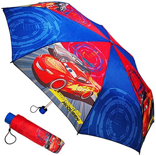 alles-meine.de GmbH Taschenschirm / Regenschirm - Kinderschirm - Disney Cars - Auto - ø 100 cm - großer Kinderregenschirm Schirm / für Jungen / Mädchen / Frauen / Männer - Erwach..