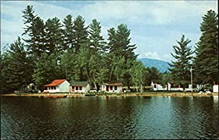 Greenwood Cabins on North Pond Locke Mills, Maine Original Vintage Postcard
