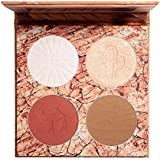 ELLESY 4 Shades Contour Highlighter Makeup Palette Highly Pigmented Blush Palette and Facial Contouring Cruelty Free