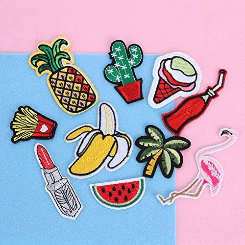 Tissu fer sur Applique de broderie Patch, Badge brodé artisanat 10 pièces Applique, chapeau en jean pour vêtements pour robe
