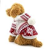 Ranphy - Abrigo de invierno para perros pequeños, diseño de copo de nieve