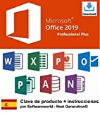 Clave de producto Office Professional Plus 2019 de 32/64 bit