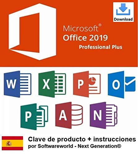 Clave de producto Office Professional Plus 2019 de 32/64 bits, incluidas las instrucciones de Softwareworld - Next Generation®