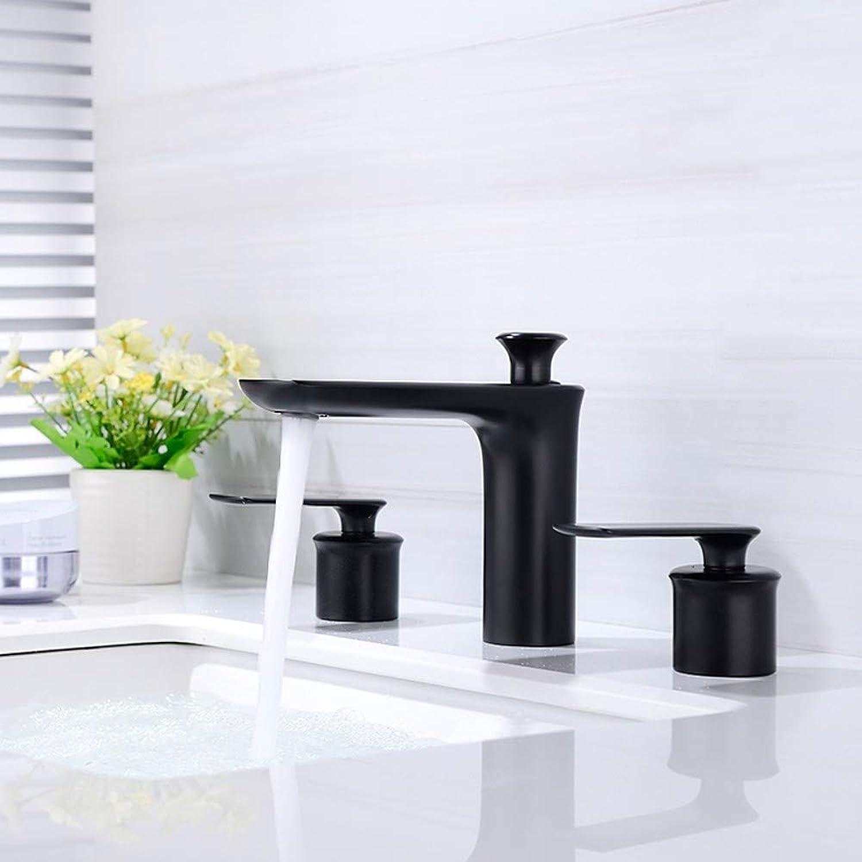 Waschbecken Wasserhahn - Verbreitete Neues Design l-riebe Bronze deckenmontiert Zwei Griffe Drei Lcher A
