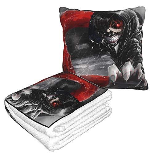 XCNGG Tokyo Ghoul Ultra Soft Micro Kissendecke Ganzjährige Premium Bettdecke Suitbale Forplush Überwurfdecken für Erwachsene oder Kinder