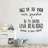 wZUN Kreative spanische Zitate Vinyl Wandaufkleber Home Decoration Aufkleber Kinderzimmer Dekoration...