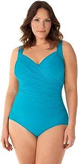 Women's Plus Size Swimwear Solid Sanibel Sweetheart Neckline One Piece Swimsuit