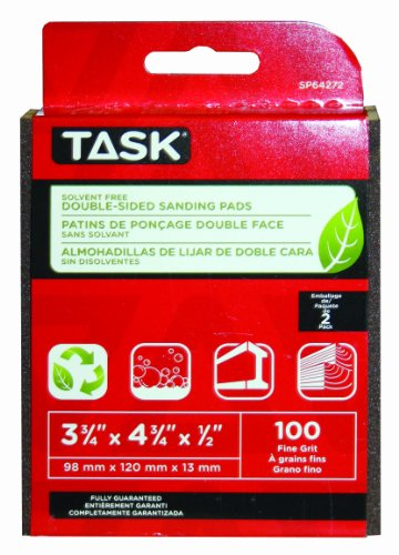 Read About Task Tools SP64272 Solvent-Free ECO Double-Sided Sanding Pads, 100 Grit, 2-Pack