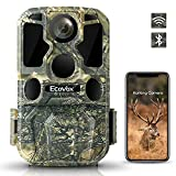 4K Lite 24MP WiFi Bluetooth Trail Camera Low Glow IR Night Vision ECOVOX Hunting Game Camera with 120° 65ft Motion Activated 0.2s Trigger Speed IP65 Waterproof