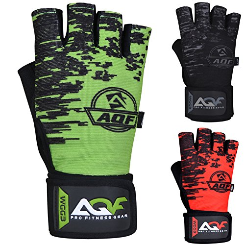 AQF Gewichtsheffende Handschoenen Met 50cm Polsbanden Steun Gymhandschoenen Voor Powerlifting, Cross Fitness, Training - Ademend, Lichtgewicht