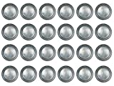Beistle 24 Piece All Occasion Disposable Pewter Paper Plates Medieval Party Supplies – Pirate And Halloween Tableware, 9'