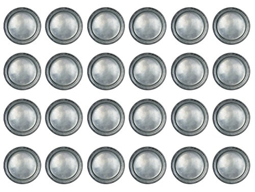 """Beistle 58178 24 Piece Paper Plates, 9"""", Pewter"""