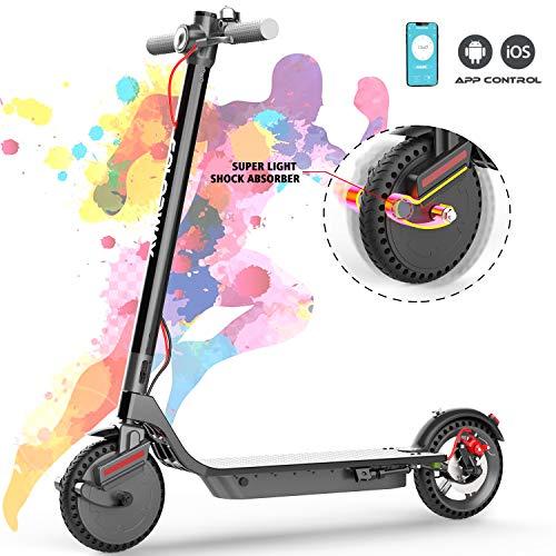 COLORWAY CX900 Elektro Scooter Elektroroller E-Scooter E-Roller Faltbar, Mit APP - Batterie 7.5Ah - 380W Motor - 25KM/H, Super stoßfest 8,5 Zoll Reifen - für Erwachsene und Jugendliche