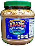 Adams 100% Natural CRUNCHY PEANUT BUTTER 80oz (Single)