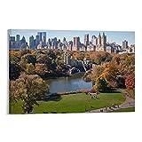 Póster decorativo de la ciudad de Nueva York en el parque Central Park Walk in The Park, 40 x 60 cm