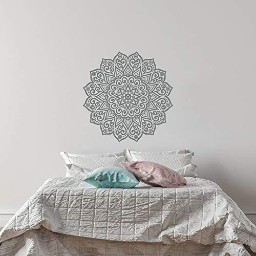 Mandala de pared Yoga vinilo pegatinas de pared dormitorio estudio de yoga decoración del hogar estilo de arte de pared de Mandala