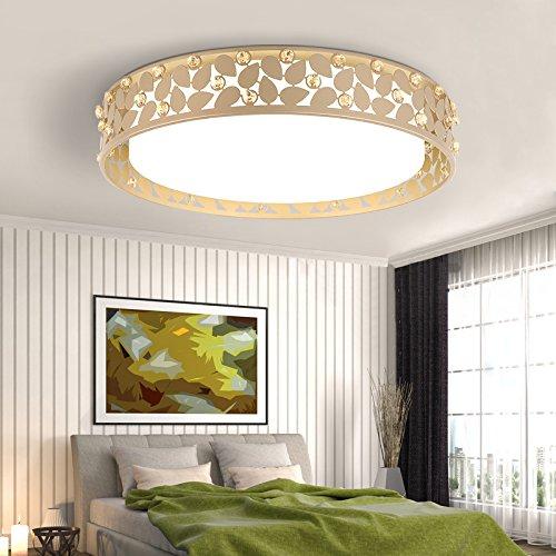 SDKKY Ronde de Noël salon, minimaliste, des chambres modernes et chaleureuses, lampe, LED, fer à repasser, (blanc 48 * 8cm*)