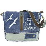 Sunsa Damen Messenger Bag Umhängetasche Handtasche, aus Jeans/Canvas & Leder. Große Crossbody Tasche Schultertasche, Geschenkideen für Frauen/Mädchen, nachhaltige Produkte 52447