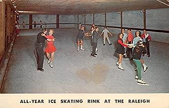 Ice Skating Rink Raleigh Hotel South Fallsburg, New York, Postcard