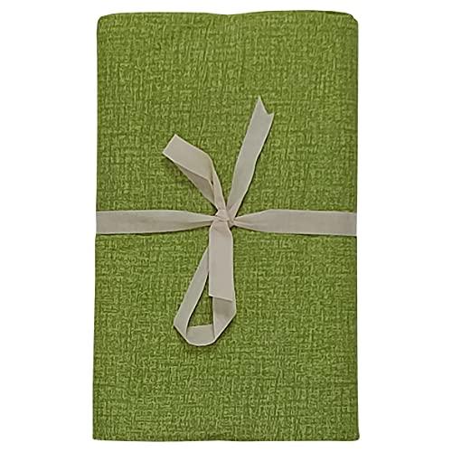 Granfoulard para cama de matrimonio 9 colores 3 patrones Made in Italy 250 x 280 cm ( Verde Striato )
