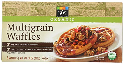 365 Everyday Value, Organic Multigrain Waffles, 6 ct, (Frozen)