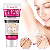 Whitening Cream, MayBeau Achselhöhle Creme Body Cream für Dunkle Haut, Hals, Empfindliche Bereiche, Ellenbogen, Innere Oberschenkel, Knie Körper Aufhellung Creme Haut Beauty Whitening...
