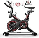 Ciclos de bicicleta estática Máquinas de ejercicio Bicicleta estática para el hogar Manillar ajustable y asiento pantalla LCD El monitor lee la velocidad, la distancia, el tiempo y las calorías