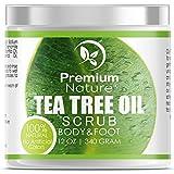Antifungal Tea Tree Body & Foot Scrub - 12 oz 100% Natural...