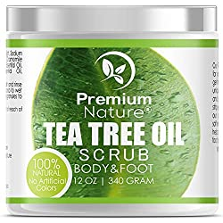 We are in love with this Tea Tree oil foot scrub! Check out our most recommend products to fix cracked heels