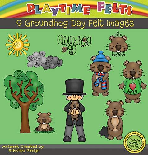 Playtime Felts Groundhog Day Felt Set for Flannel Boards - Uncut Felt Figures