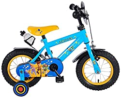 Recommended age: from 3 to 4,5 years, dress size 92-104 cm Front brake on handlebar and rear coasterbrake Saddle and handlebar adjustable in height, removable trainingwheels Full and safe chain guard and air tires extra large Original Toy Story and f...