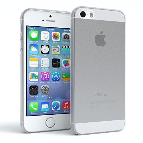 EAZY CASE Hülle kompatibel mit Apple iPhone 5 / 5S / SE Schutzhülle Silikon, matt & Ultra dünn Slimcover, Handyhülle, TPU/Soft Case, Silikonhülle, Backcover, Transparent