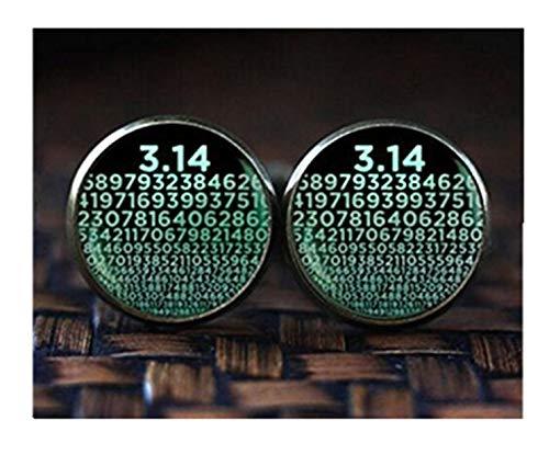 Pi Manschettenknöpfe, Zahlen von PI Manschettenknöpfe, Mathematik Mathematische Manschettenknöpfe