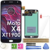 X4 LCD Screen Replacement Touch Display Digitizer Assembly 5.2' (Black) for Motorola Moto X4 XT1900-1 XT1900-2 XT1900-4 XT1900-5 XT1900-7 with Adhesive Tempered Glass and Repair Tools
