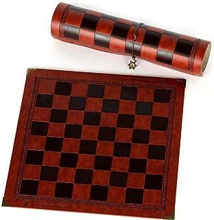 WHHHuan 1SeeTouille d'échecs Design Unique de Motifs en Relief Cuir Chess Board Board Général Universal Chess Board Plankb...