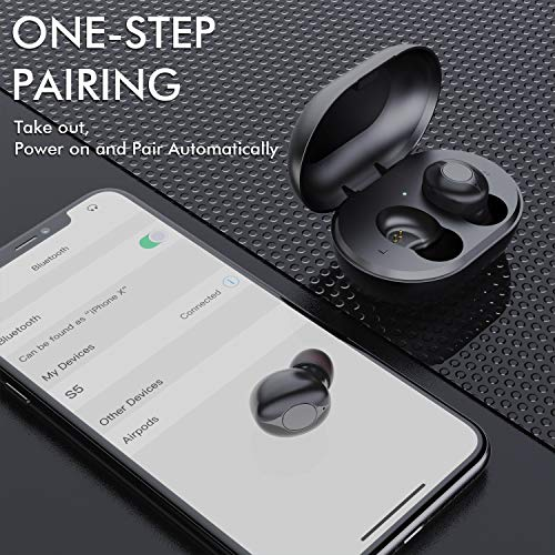 Wireless Earbuds, Comeproof Bluetooth Earbuds Deep Bass HiFi Stereo Sound 24H Playtime Bluetooth Headphones in Ear with Charging Case and Built in Mic for Sports Running. 6