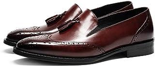 Rui Landed Retro Colores Brogue Oxford Zapatos de Hombres Zapatos Formales de Primera Calidad Genuina de la Borla de Piel ...