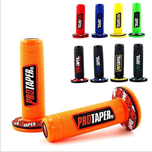 """Motorrad Protaper Grips Motocross Grip Lenker Dirt Pit Bike 7/8\""""Lenker Gummi Gel Dual Density MX Grips Cyclist store (Farbe : Orange)"""