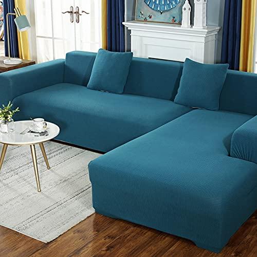 GSYM Funda de sofá retráctil en Forma de L, Funda de sofá Modular, Suave, Lavable, Antideslizante, Puede Proteger Sus Muebles de derrames y Manchas, evitando así daños