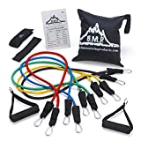 Black Mountain Products Resistance Band Set with Door Anchor, Ankle...